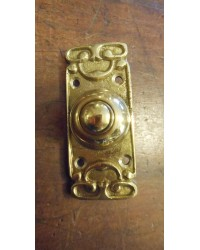Art Nouveau Style Brass Bell Push - Style Two