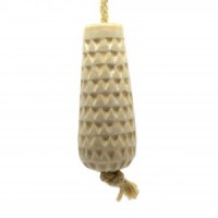 Ceramic Light Pull - Cream Chevron