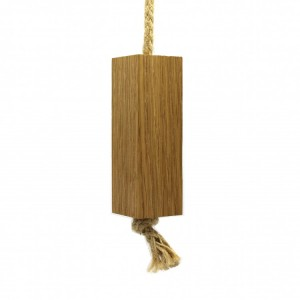 Solid Oak Light Pull - Rectangle