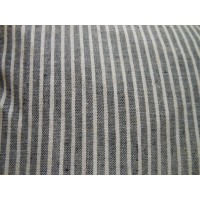 Linear Stripe Feather Filled Cushion - Slate