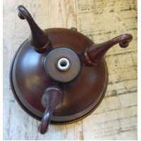 Ceiling Rose - Triple Hook - Antiqued