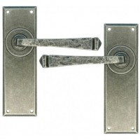 Pewter - Avon Lever Latch Set  - Anvil 33701 - Sprung