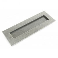 Pewter - Letterplate - Large - Anvil 33680