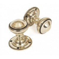 Aged Brass - Brockworth Mortice Knobs - Anvil 83862