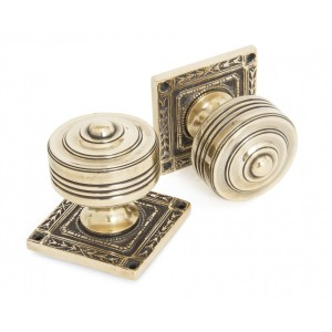 Aged Brass - Tewkesbury Mortice Knobs - Anvil 83860
