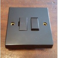 'Bakelite' Switched Fused Spur - Square Edged