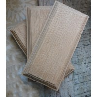 Mounting Block - Oak - Triple / 3 Gang - 210mm x 100mm