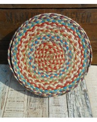 Set of 6 Braided Place Mats - Carnival