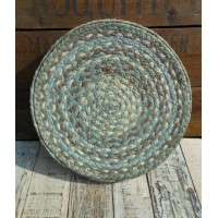 Set of 6 Braided Place Mats - Seaspray