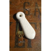 Ceramic Escutcheon - Cream Crackle