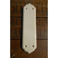 Ceramic Fingerplate - Cream Crackle