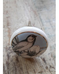 Ceramic Cupboard Knob - Blue Bird