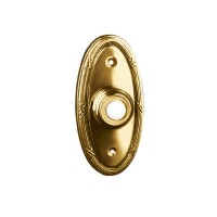 Traditional Oval - Lighted Bell Push - Brass