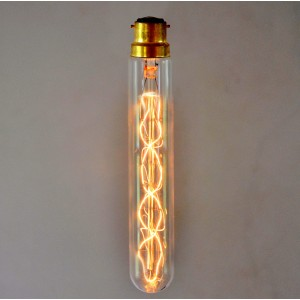 Vintage Style Tube Light Bulb - Spiral - SMALL