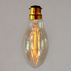 Vintage Style Pear Light Bulb - Small Hairpin