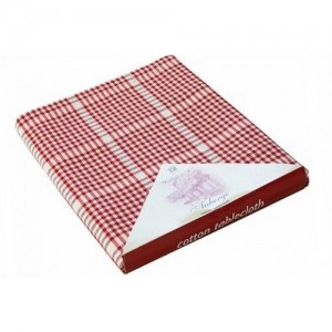 Auberge Gingham Check Tablecloth - Red - 130 x 130 cm