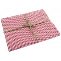 Mini Gingham Table Cloth - 130 x 180cm - Raspberry