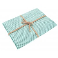 Mini Gingham Table Cloth - 130 x 180cm - Ocean Blue