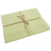 Mini Gingham Tablecloth - 130 x 180 cm. - Avocado Green.