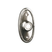 Traditional Oval - Lighted Bell Push - Chrome
