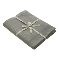 Primavera Cotton Table Cloth - 130 x 230cm - Pigeon
