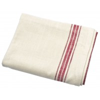 Marmot Tablecloth - 150 x 230cm - Natural With Red Stripe