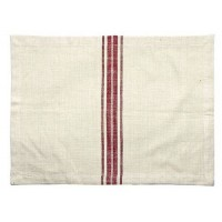 Marmot Placemats - Pack of 4 - Natural With Red Stripe