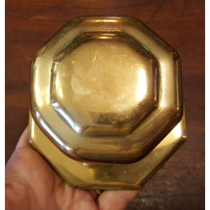 Reclaimed Large Octagonal Centre Door Pull - Brass