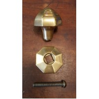 Reclaimed Octagonal Tapered Centre Door Pull - Brass