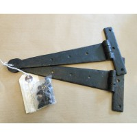 "1 Pair of 9"" Penny T-Hinges - Iron"