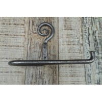 Artisan Toilet Roll Holder - Hand Forged - Pewter Finish