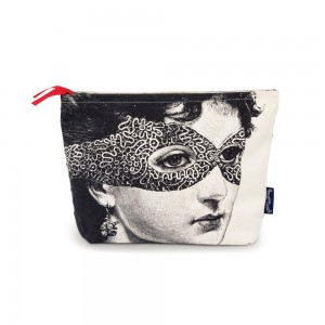 "Chase & Wonder - ""Lady in the Mask"" Canvas Wash Bag"