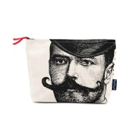 "Chase & Wonder - ""Dashing Gentleman"" Canvas Wash Bag"
