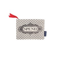 """Spend"" Hand Printed Canvas Purse"