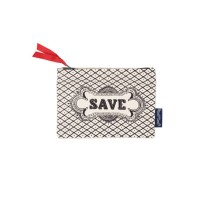 """Save"" Hand Printed Canvas Purse"