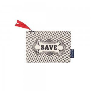 "Chase & Wonder - ""Save"" Hand Printed Canvas Purse"