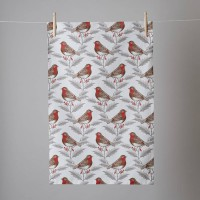 Thornback & Peel Tea Towel -Robin & Holly