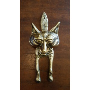 Fox Door Knocker - Large Brass