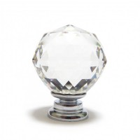 Faceted Cut Glass Cupboard knob – Clear