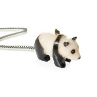 Carved Tagua Nut Pendant - Panda/Penguin/Badger