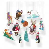 Pop Out Cardboard Tree Decorations - Chalet Snow