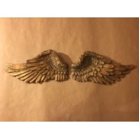 Cast Resin Angel Wings - Gold Pair