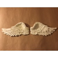 Cast Resin Angel Wings - Cream Pair