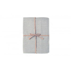 Mini Gingham Table Cloth - 130 x 180 cm - Grey