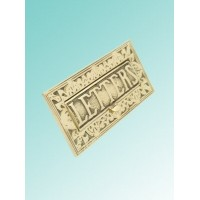 Ornate Letterplate - Brass