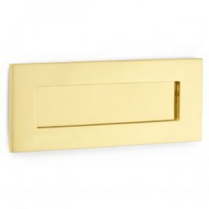 "'Bank' Style Letterplate - Brass - Medium 12"" x 4 1/4"""