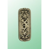 Cherub Fingerplate - Brass