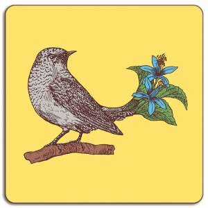 Puddin'Head Placemat - Birds - Pewee