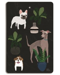 """Dogs"" Chopping Board - Design by Anne Bentley"