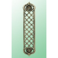 Trellis Fingerplate - Brass